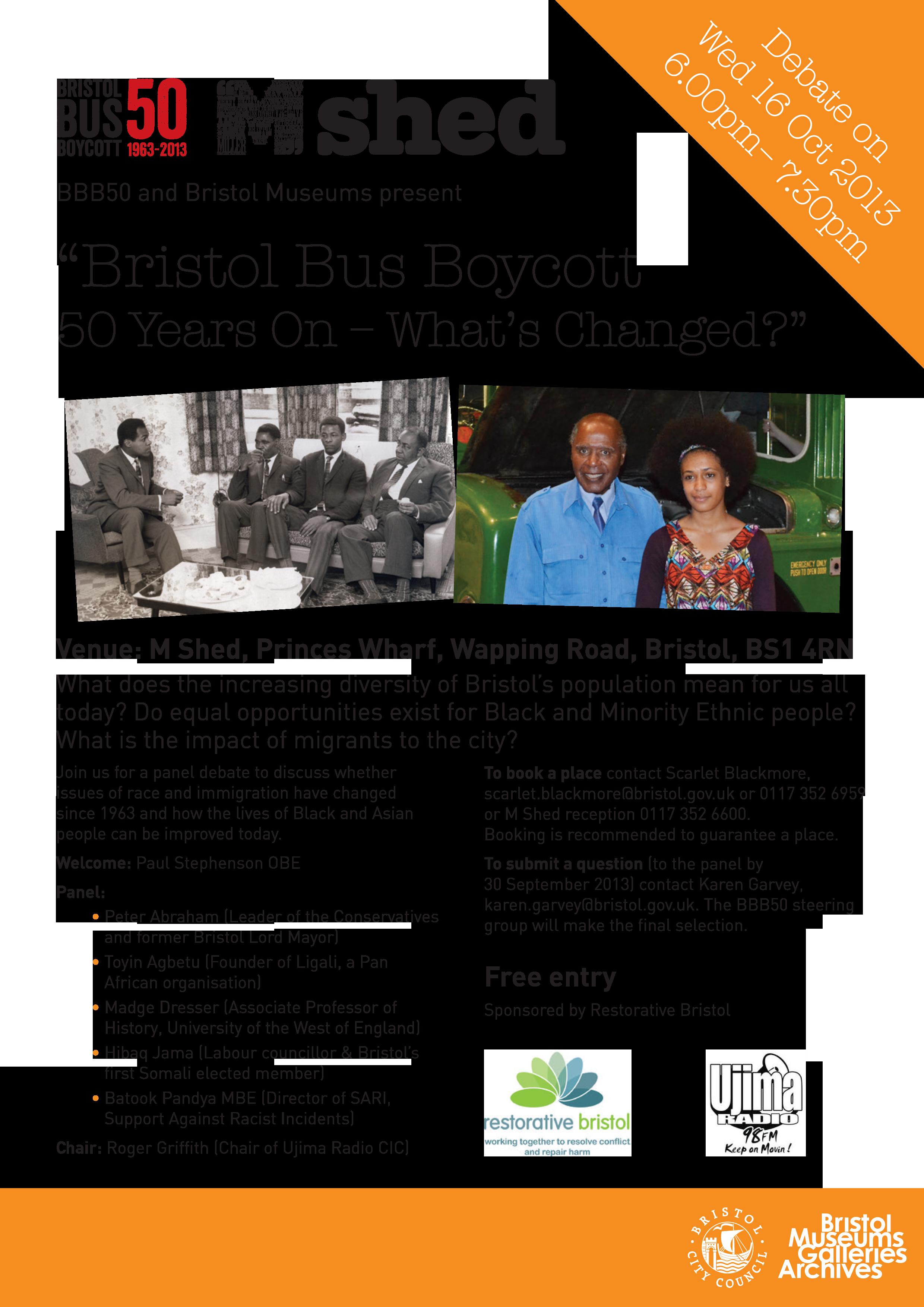 BD4551 Bristol Bus Boycott flyer A4