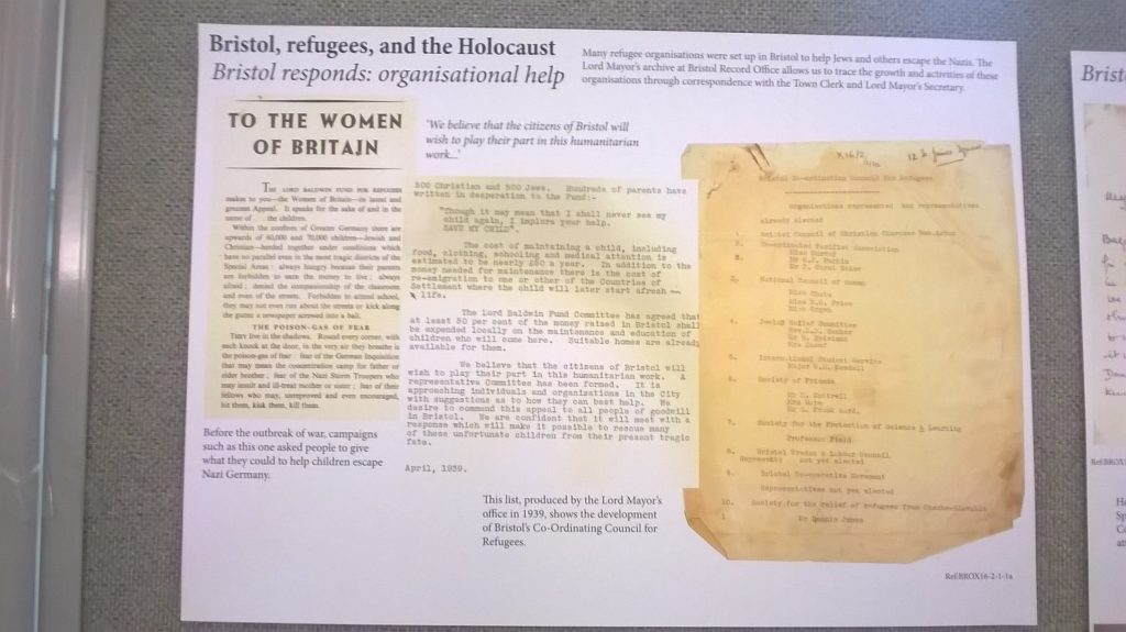 Bristol, refugees and the Holocaust